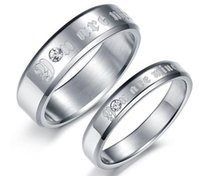 american mining - New Arrival Lovers Couples L Stainless YOU ARE MINE CZ Stone Wedding Rings SZ