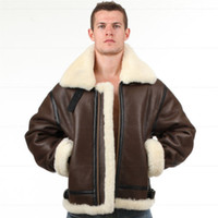 air aviation - B3 shearling Leather jacket Bomber Fur pilot World II Flying aviation Air Force