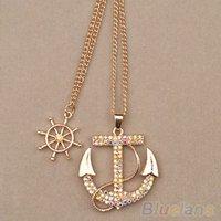 www.aliexpress.com - http www aliexpress com item New Fashion Women jewelry Lady Alloy Diament Anchor Sweater Chain Necklace Pendants html spm