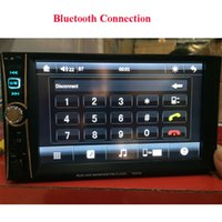Cheap 7 Inch Double Din Car Stereo Player HD In-dash Touch Screen Bluetooth MP3 MP5 Rear view FM AUX USB SD Remote Control