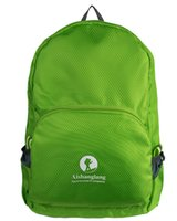 Wholesale 2016 Hot waterproof Portable Folding bag Solid Nylon Daily Traveling Backpacks quality Outdoor travel bags and Folding bag