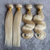 Malaysian Hair Body Wave  Honey Blonde Human Brazilian Hair Weave Bundles 3Pieces Cheap Body Wave or Straight #613 Color Human Hair Extensions Free Shipping