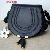 Wholesale women real leather messenger bag with tassel women genuine leather marcie bag shoulder bag small saddle bag long strape