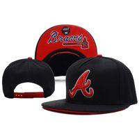 atlanta wholesalers - MLB Hip Hop Caps Snapback Hot Brand Cotton Adjustable Active Hats MLB Atlanta Braves Snapback for Women Men A032