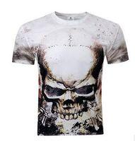 american shirts uk - New design skull D printed American UK style men tshirt short sleeve O neck fashion streetwear top tee shirt
