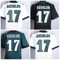 venda por atacado homem camisa fábrica-Fábrica diretamente Wholesales 17 Nelson Agholor Homens Jersey Esporte Uniformes Moda Nelson Agholor shirt da equipe cores Alternate Verde Branco