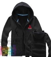 aftermarket s - Mitsubishi hoodie clothes zipper cardigan sweatshirts aftermarket auto S shop repairman custom clothing