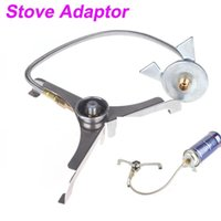 Wholesale Camping Hiking Cooking Gas Stove Adaptor Lengthened Link Three leg Transfer Head for Nozzle Gas Bottle