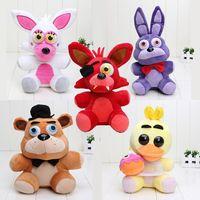 Wholesale 25cm cm Five Nights At Freddy s FNAF Freddy Bear foxy Bonnie Chica Plush Toys stuffed doll kids gift Freddy Fazbear plush