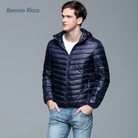 Wholesale 2016 New Arrival Fashion Winter Men Down Jacket Slim Coat Short Thin Warm Outerwear Solid High Quality