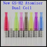 Cheap 10pcs lot New GS H2 atomizer Dual coil replace GS-H2 rebuildable H2S atomizer for ego battery e cig