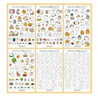 Wholesale set Cute Kawaii Molang Rabbit PET Decoration Planner Sticker Cartoon Staionery Notebook Diary Stickers