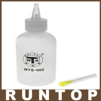 Wholesale ml rosin flux alcohol container bottle with needle