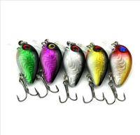 Pêche crankbait leurres petite France-100 pièces de surface de pêche de haute qualité leurre 3cm 1.5g petit poisson appât méné crankbait 6 # crochet yeux 3D attirail de pêche hight qualité