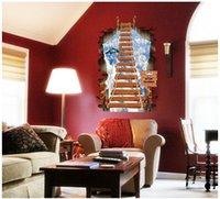 art for kids furniture - Removable sticker creative decoration furniture imitation three D wall stickers ladder dream