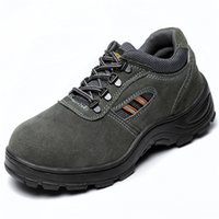 steel toe cap - UNISEX SAFETY STEEL TOE CAP TRAINERS LEATHER WORK BOOTS SHOES
