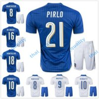 Cheap 2016 New 2017 Euro Kits Soccer 16 17 Italy Jersey PIRLO El Balotelli Verratti MARCHISIO National Team Football Shirt Short Sleeves Sports