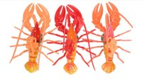 Wholesale 10pcs Size CM Cute Artificial Lobster Bermuda Lobster Crayfish Prawn Langouste Fridge Magnets Home Decorations