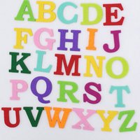 Wholesale 260 Mixed Color Letter Alphabet Felt Patches educational toys patch applique for DIY needle craft Headband Craft Supplies drop shipping