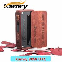 Cheap Single kamry 80w kit Best Red Wood kamry 80w mod