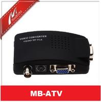 Wholesale BNC Composite S video VGA In to PC VGA Converter
