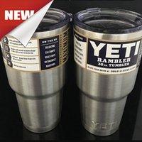 Wholesale Hot Yeti Cup Powder Coated oz Yeti Rambler YETI Coolers Rambler Tumbler Stainless Steel Double Walled Travel Mug YETI Dhl