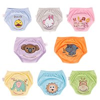 Wholesale Baby cloth diapers baby waterproof Potty training Pants Toddler Leaning Pants Size animal color choose