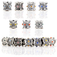 Wholesale 925 Sterling Silver Charm Bead With Spark Cubic Zirconian Paved For Pandora Bracelet European Necklace