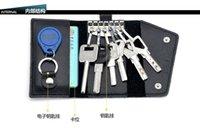 Wholesale The car key bag Genuine leather bag mens multi function key bag high end card bag Family key package