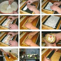 Wholesale DIY Practical Sushi Rolling Roller Bamboo Material Mat Maker And Rice Paddle Set