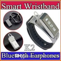 k2 - New Original TalkBand K2 Smart Bracelet Wristband Bluetooth Dual mode Sleep Monitor Smartwatch Band Phone Mate With Headset H BS