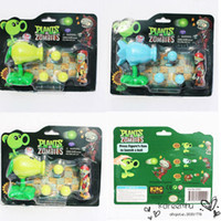 Wholesale Juguetes Dragon Ball Plants Vs Zombies Pvc Figure styles for Choosing Pea Shooter with Foam Ball with Box Funny Toy