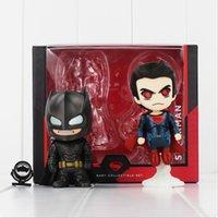batman collectables - Super Hero Batman Superman Q Version PVC Action Figure Toy Collectable modle toy for kids gift EMS