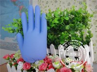 Wholesale Disposable blue laboratory housework Safety gloves pack