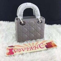 Wholesale Vivian C Luxury Brand Lady D Women Genuine Leather Handbag Lambskin Purse cm
