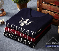 Wholesale The new autumn and winter cotton thin section British style men students warm round neck pullover Maserati