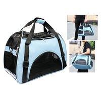 Wholesale Mesh Design Breathe Freely Washable Pet Carrier Dog Bag Cat Handbag With Shoulder Strap For Travel Free Fleece Pad Included
