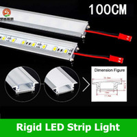 Wholesale 100cm Led Bar Light U Type Aluminum Alloy Slot W Led Rigid Strips Light Warm Pure Cool White Leds M SMD V