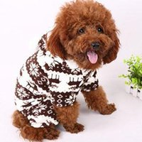 Wholesale Factory Price Soft Warm Pet Dog Puppy Winter Clothes Snowflake Deer Printed Hoody Jumpsuit lt no tracking
