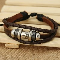 beaded woven wire - Handmade mix beaded bangles Woven Leather Bracelet indian bangles charm trendy ladies bangles expandable wire bangle bracelet for men