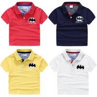 bat boy t shirt - Cool brand Bat boys solid Polo shirts T shirt short sleeve turn down collar cotton little boy knitting Polos Child clothing Kids unfading
