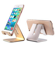 Wholesale Colorful Universal Aluminum Metal Mobile Phone Tablet Desk Holder Stand for iPhone s plus Samsung S7 S7 edge Smartphone and Tablets