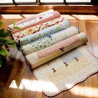 Wholesale cm x60cm Mats living room coffee table carpet doormat Multiple Featured classic double cotton cloth folder