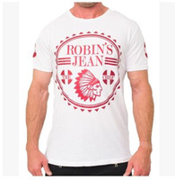 summer clothes for men - Brand Robin jeans t shirts clothes for men summer new high quality cotton short sleeve mens t shirts tees clothing SIZE M XL