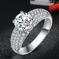 Wholesale New Sterling Silver Purple Diamond Rings European Fine Jewelry Rings For Women Birthday wedding Anniversary Gift