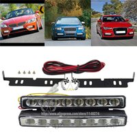 Wholesale Free shiping Super Bright DRL LED Daytime Running Light Driving Lamp LED DRL Turn Signal Light have stock ready to ship