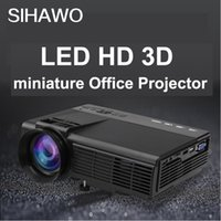 Wholesale SIHAWO LED HD D Miniature Office Projector Phone WiFi P x768 Physical Resolution inch LCD Screen Free Gift projection Screen
