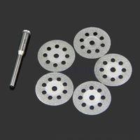 Wholesale 5PCS mm Mini Sharp Rotary Diamond Cutting Discs Disks Dremel Tools With A Rod