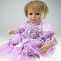 Cheap High Quality Real Life 43 cm Silicone Reborn Baby Dolls Soft Touch Body New Reborn Babies Doll Toys For Kid Gifts Growth Partner