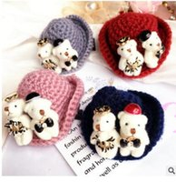 african animal fabric - The new bear contracted joker retro wool hat clip hairpin duckbill clip hair accessories